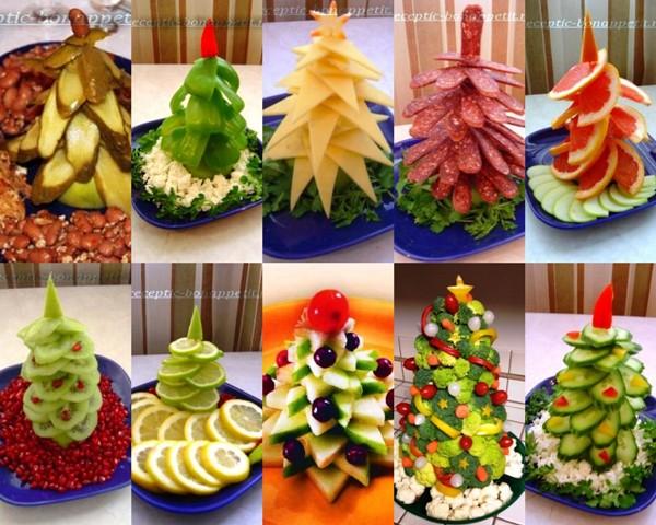 Новогодние ёлки своими руками из продуктов