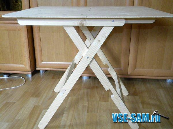 Походный раскладной столик сделать своими руками