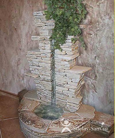 Как сделать водопад для дома