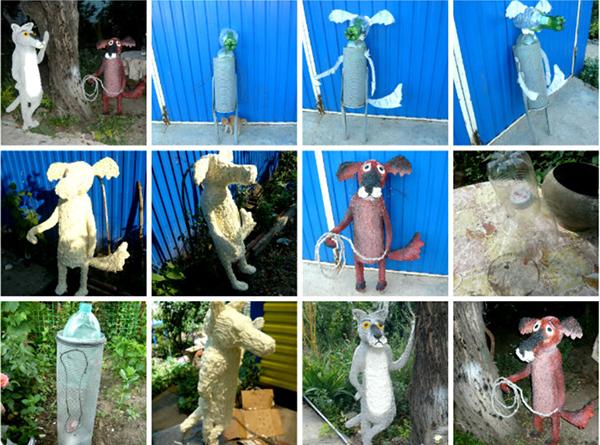 Садовые фигуры из монтажной пены мастер-класс